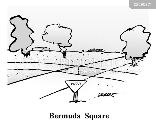 bermuda triangle cartoon