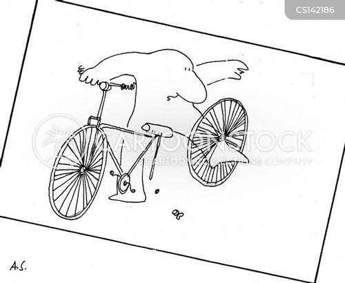 bike injuries cartoon
