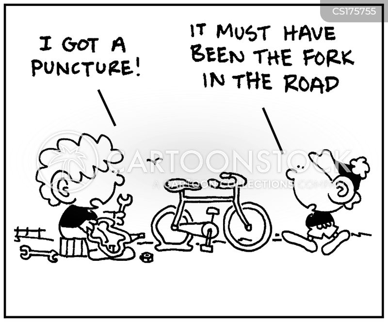 fork cartoon