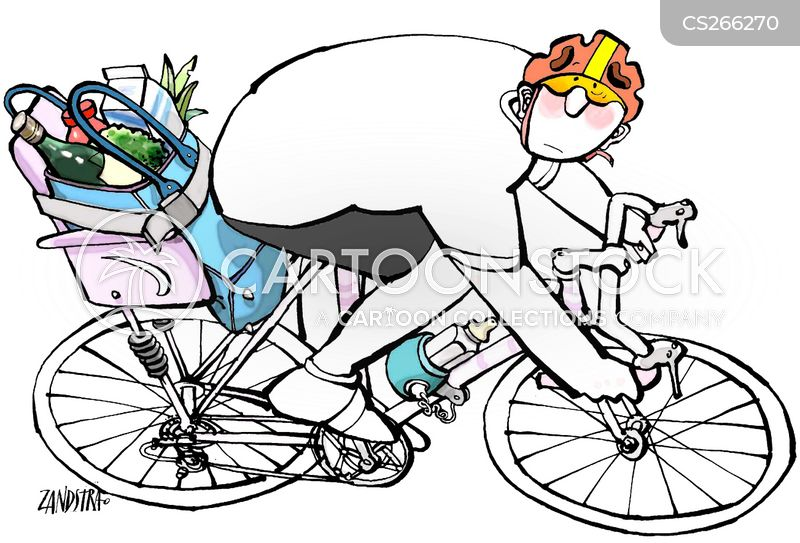 bike riding cartoon