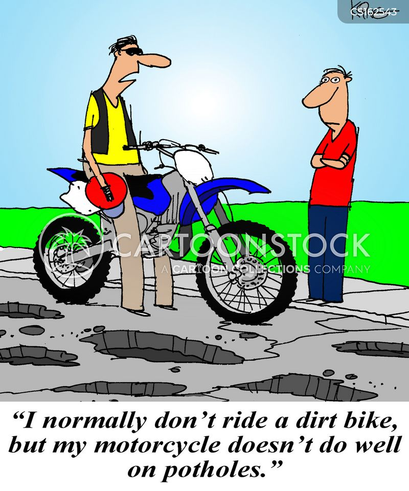 dirt bike cartoon