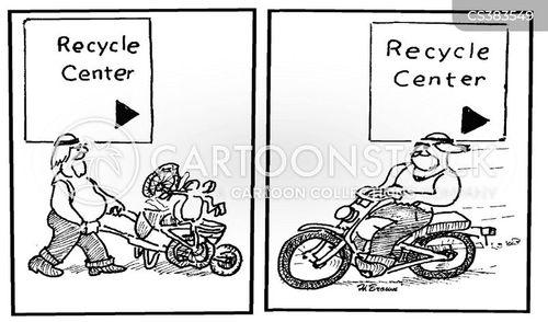 recycling center cartoon