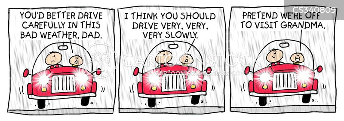 slowing cartoon