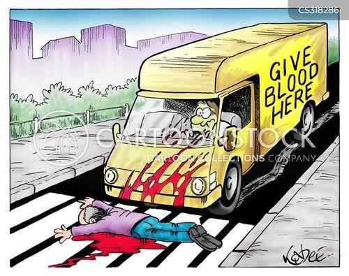 blood donation cartoon