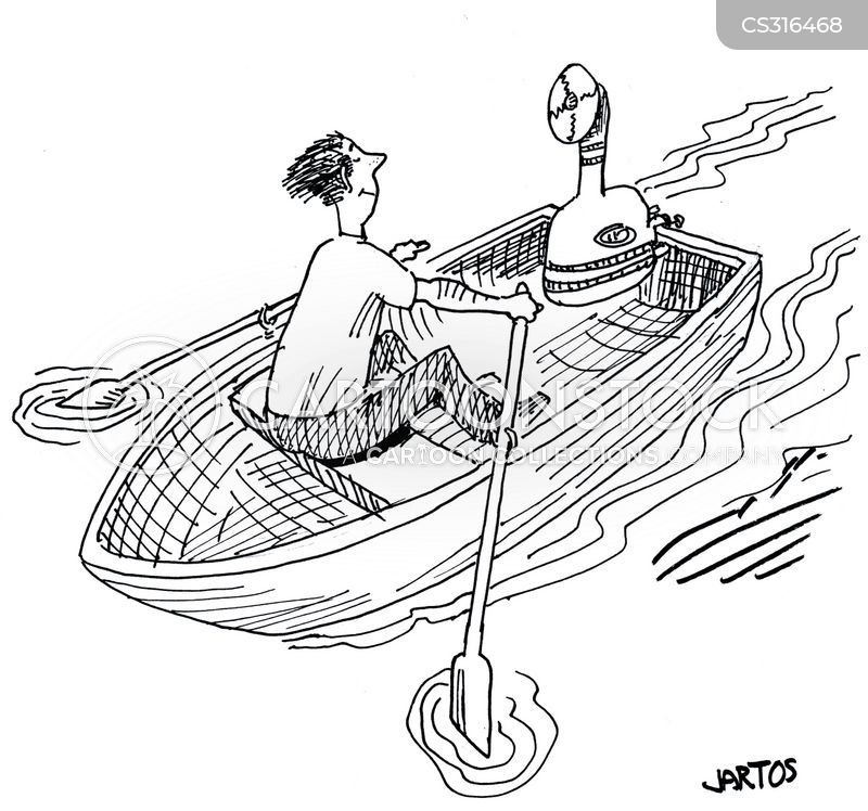 motor boat cartoon
