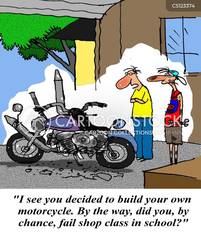 self build cartoon