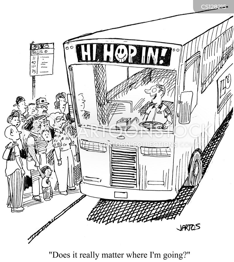 Bus Routes Cartoon 1 of 6
