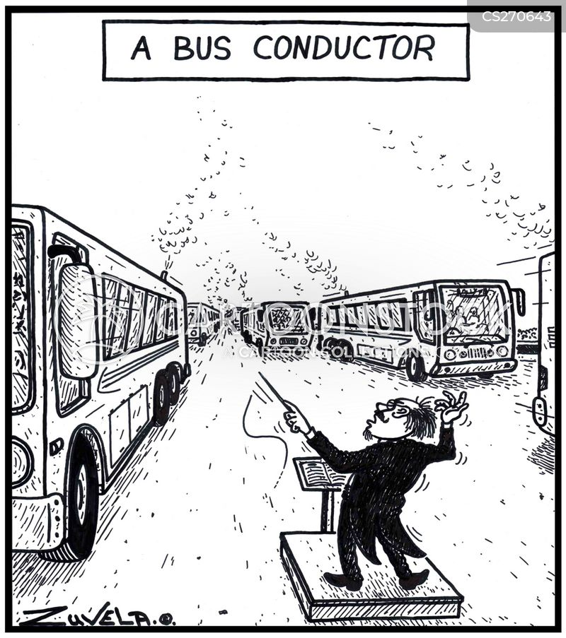 bus conductors cartoon