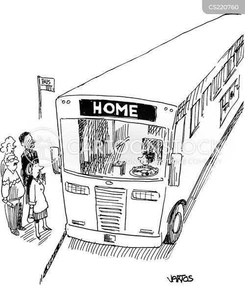 rush hour traffic cartoon