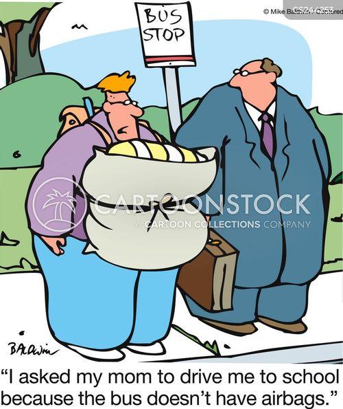 air bag cartoon