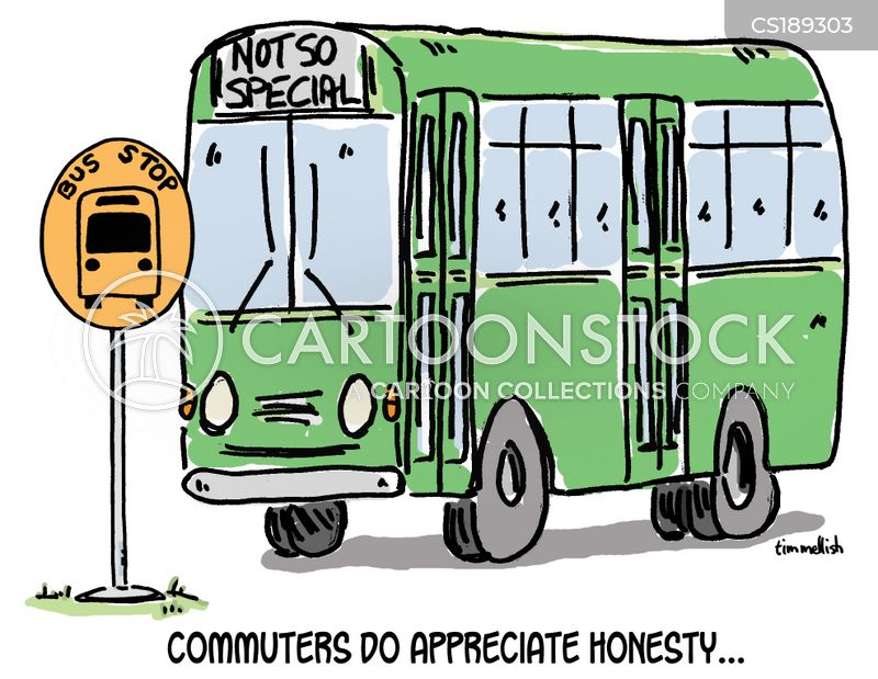bus stop cartoon