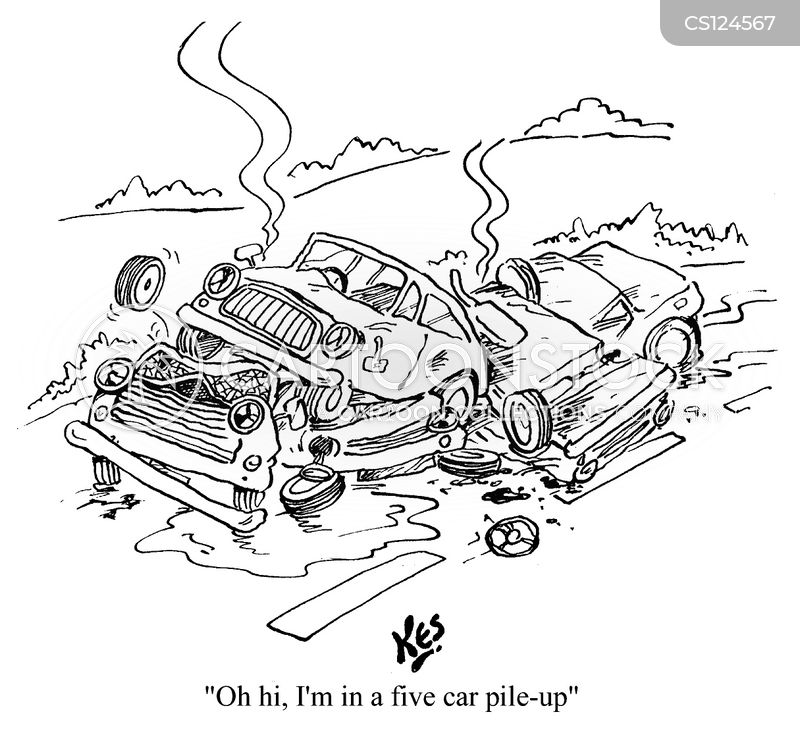 pile-ups cartoon