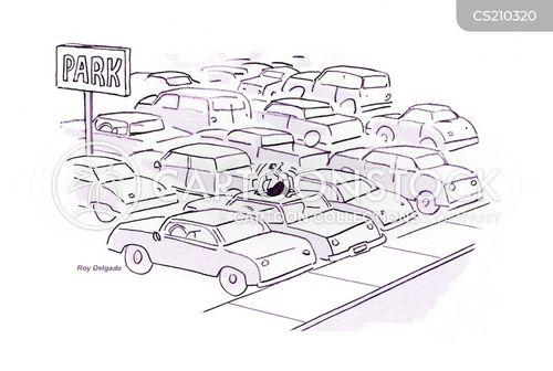 car parked cartoon