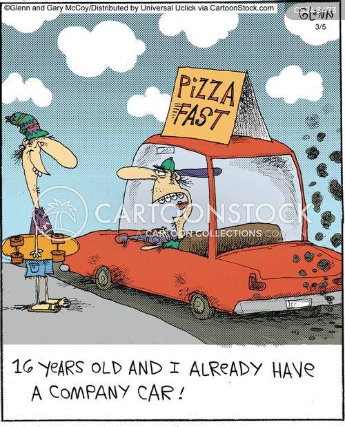 company cars cartoon