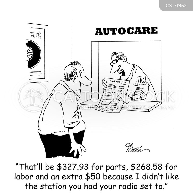 car garages cartoon
