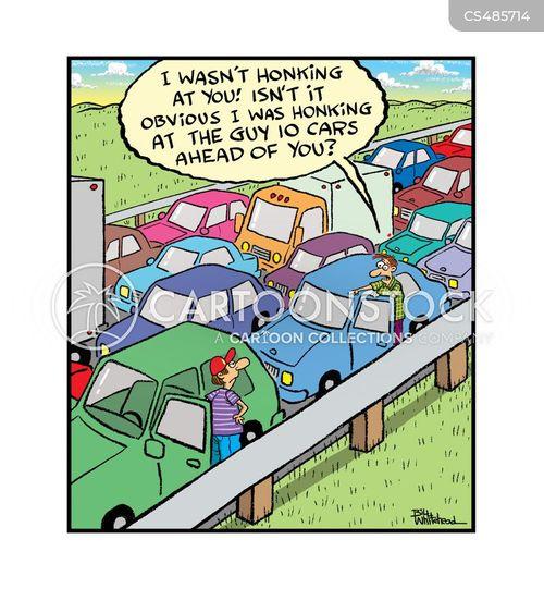 roadrage cartoon