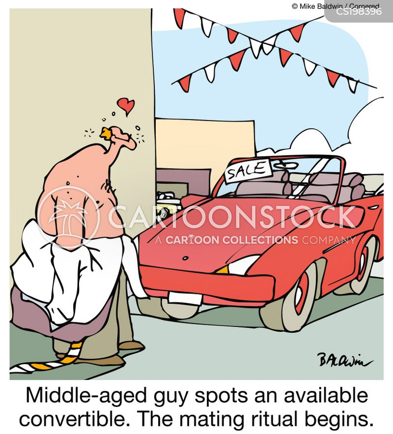 middle aged man cartoon