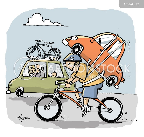 bike rack cartoon