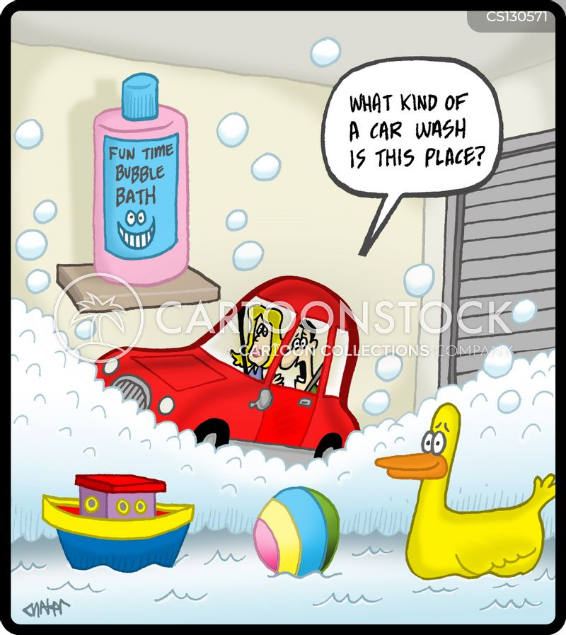 valeting service cartoon