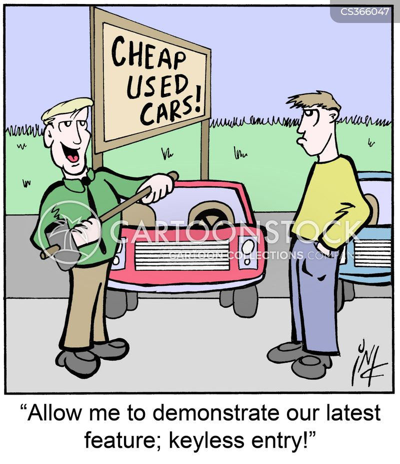 car jacker cartoon
