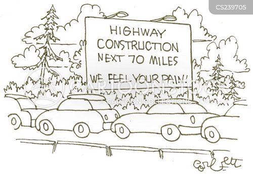busy traffic cartoon