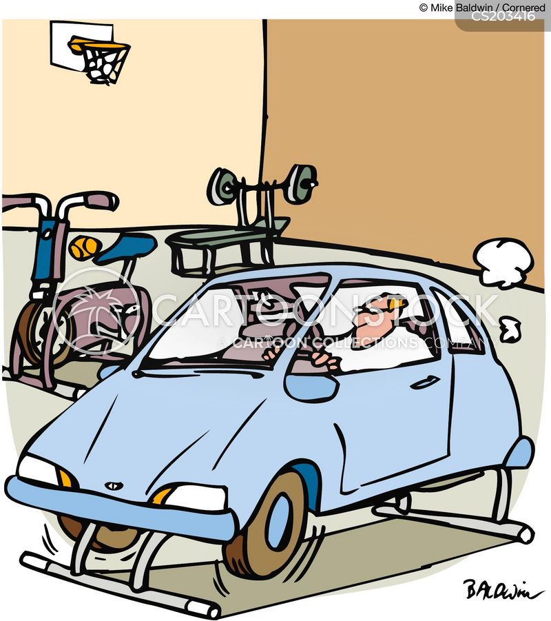 exercise bicycles cartoon