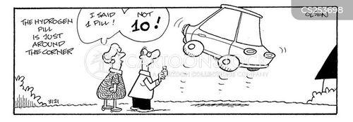 environmentally friendly car cartoon