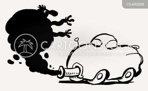 car fumes cartoon