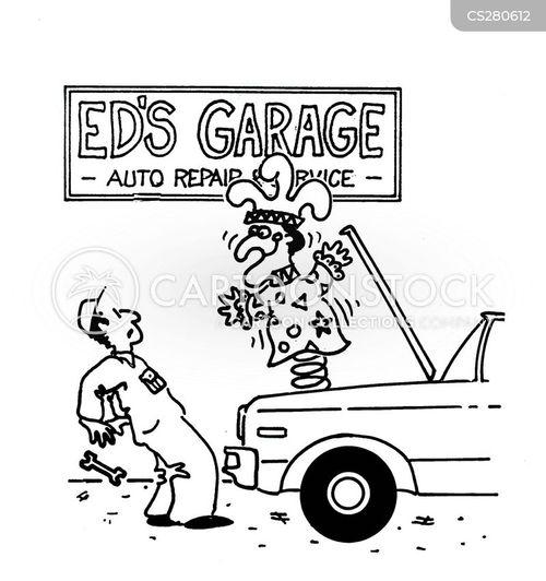 auto service cartoon