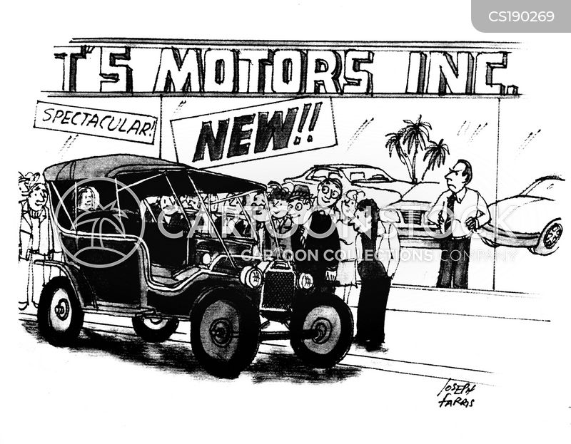 Classic Car Cartoons And Comics Funny Pictures From CartoonStock - Funny old cars