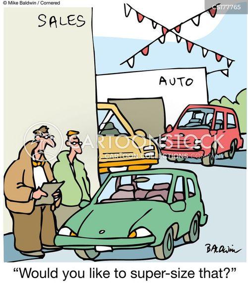 used car salesmen cartoon