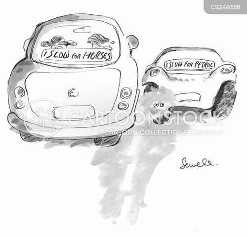 filling station cartoon