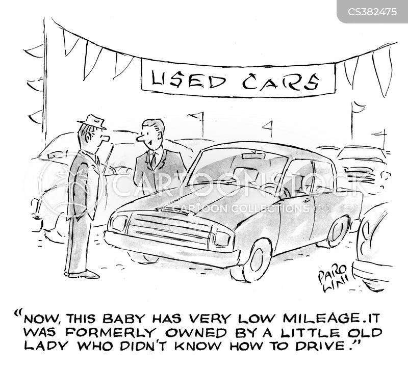 car salesperson cartoon