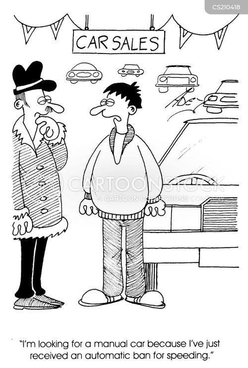 manual car cartoon