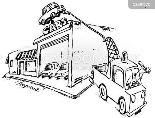breakdown truck cartoon