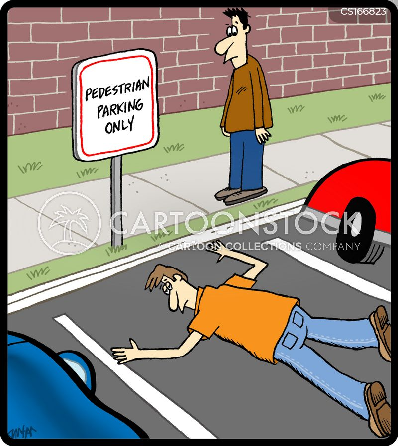 pedestrian cartoon
