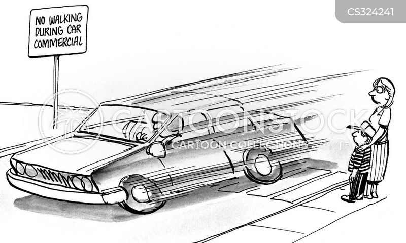 car adverts cartoon