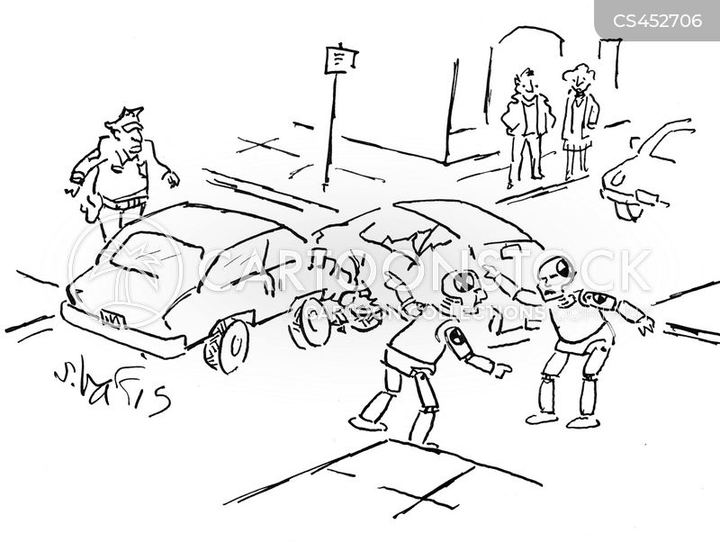 Auto Accidents Cartoons and Comics - funny pictures from CartoonStock