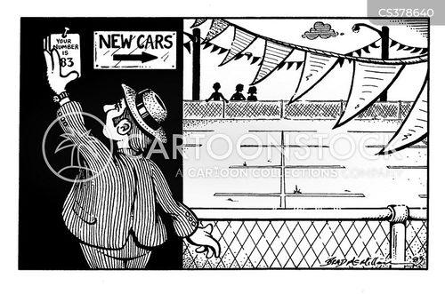 used car dealer cartoon