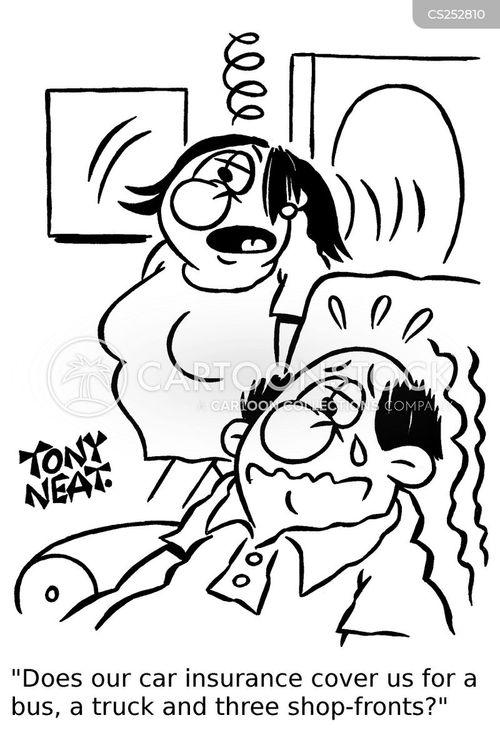Cartoons Und Karikaturen Mit Deckung