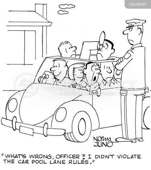 car pool lanes cartoon