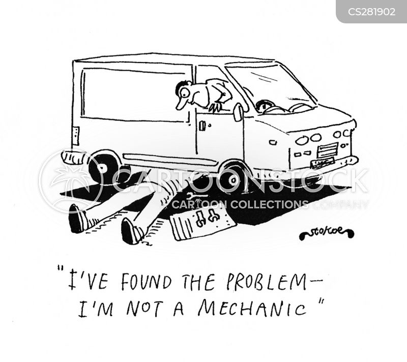 mechanical problem cartoon