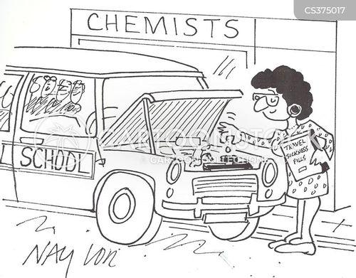travel illness cartoon