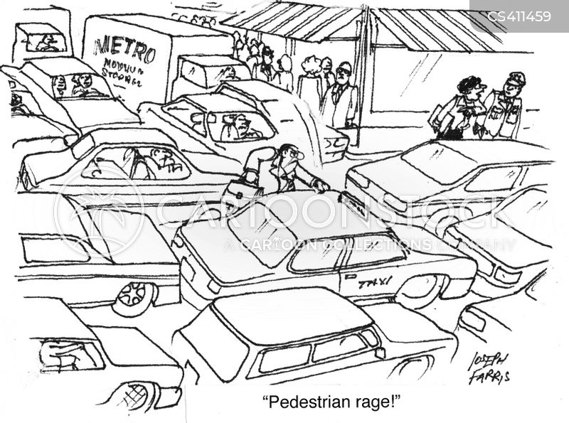 road rages cartoon
