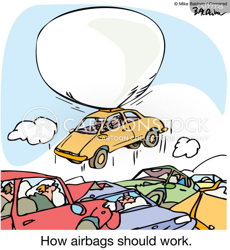 Airbag Cartoon, Airbag Cartoons, Airbag Bild, Airbag Bilder, Airbag Karikatur, Airbag Karikaturen, Airbag Illustration, Airbag Illustrationen, Airbag Witzzeichnung, Airbag Witzzeichnungen