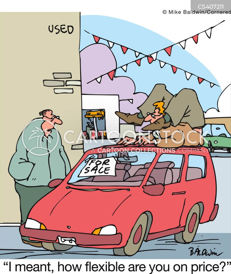 auto dealer cartoon