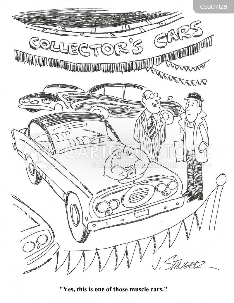 car enthusiast cartoon