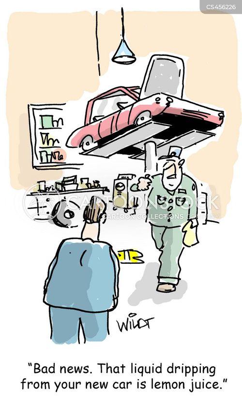 car shops cartoon