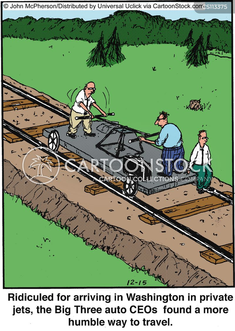 handcar cartoon