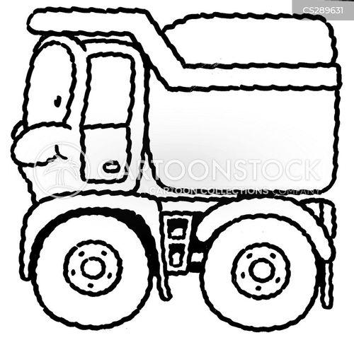 pick-up truck cartoon
